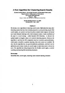 A New Algorithm for Clustering Search Results - Semantic Scholar