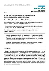 A New and Efficient Method for the Synthesis of 3,4