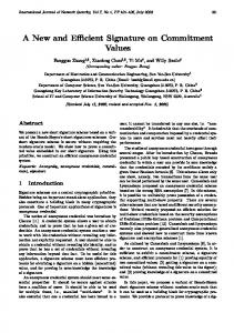 A New and Efficient Signature on Commitment ... - Semantic Scholar