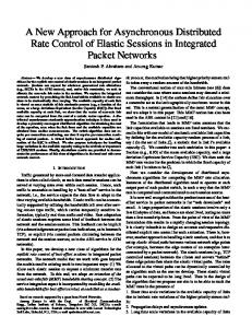 A New Approach for Asynchronous Distributed Rate Control of Elastic ...