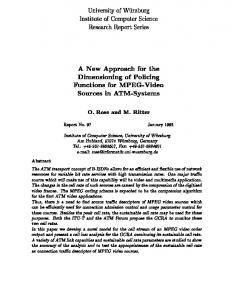 A New Approach for the Dimensioning of Policing ... - Semantic Scholar