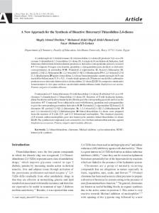 A new approach for the synthesis of bioactive heteroaryl thiazolidine-2 ...