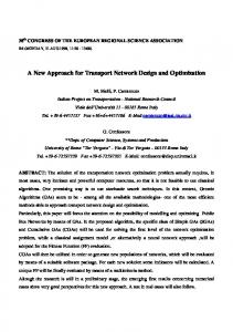 A New Approach for Transport Network Design and Optimization