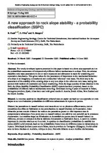 A new approach to rock slope stability - a probability classification ...