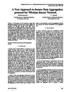 A New Approach to Secure Data Aggregation protocol for Wireless ...