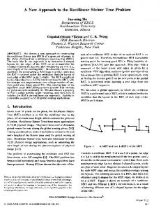 A New Approach to the Rectilinear Steiner Tree Problem - cs.York