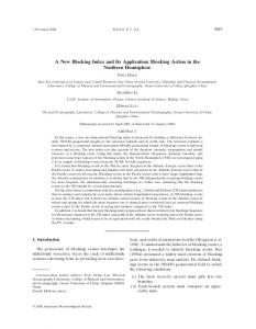 A New Blocking Index and Its Application: Blocking ... - AMS Journals