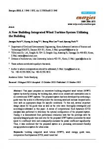 A New Building-Integrated Wind Turbine System Utilizing the ... - MDPI