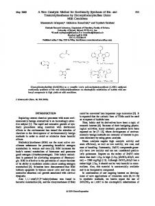 A new catalytic method for ecofriendly synthesis ... - Wiley Online Library