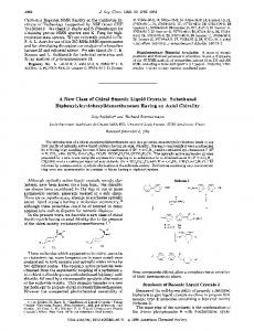 A New Class of Chiral Smectic Liquid Crystals: Substituted ...