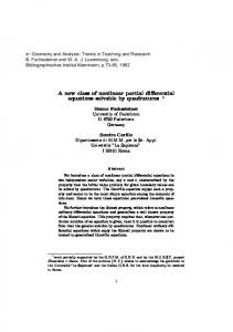 A new class of nonlinear partial differential equations solvable by ...