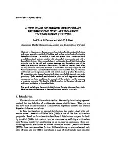 a new class of skewed multivariate distributions with applications to ...
