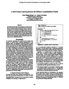 A New Clause Learning Scheme for Efficient ... - Semantic Scholar