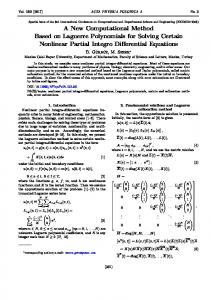 A New Computational Method Based on Laguerre Polynomials for