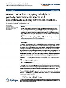 A new contraction mapping principle in partially ordered metric ... - Core