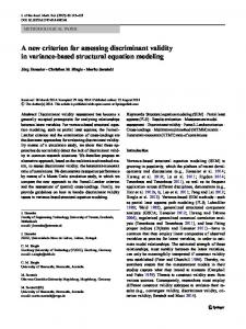 A new criterion for assessing discriminant validity ... - Semantic Scholar