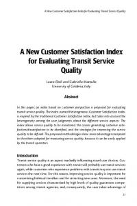 evaluating customer satisfaction to evaluate the