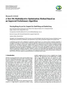 A New DG Multiobjective Optimization Method Based on an Improved