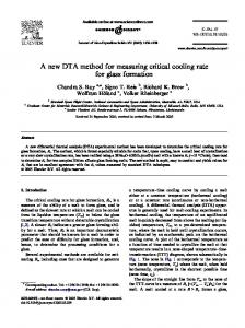A new DTA method for measuring critical cooling rate