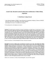 A new Early Jurassic marine locality from southwestern ... - SciELO