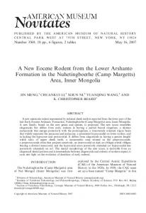 A New Eocene Rodent from the Lower Arshanto ... - CiteSeerX