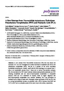 A New Esterase from Thermobifida halotolerans ... - CiteSeerX