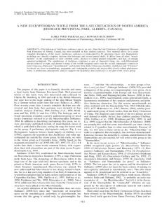 a new eucryptodiran turtle from the late cretaceous of ... - Google Sites