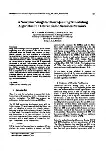 A New Fair Weighted Fair Queuing Scheduling Algorithm in ...