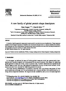 A new family of global protein shape descriptors - bio-structural ...