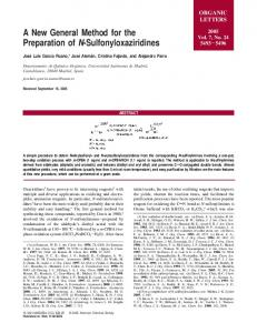 A New General Method for the Preparation of N ... - ORGLIST