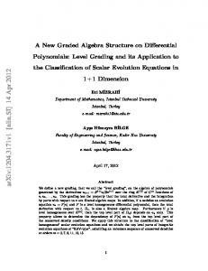 A New Graded Algebra Structure on Differential Polynomials: Level ...
