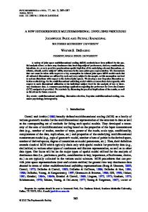A NEW HETEROGENEOUS MULTIDIMENSIONAL ... - Springer Link