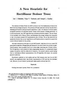 A New Heuristic for Rectilinear Steiner Trees