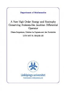 A New High Order Energy and Enstrophy Conserving Arakawa ... - DiVA
