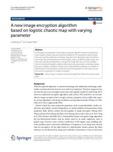 A new image encryption algorithm based on logistic chaotic ... - Core