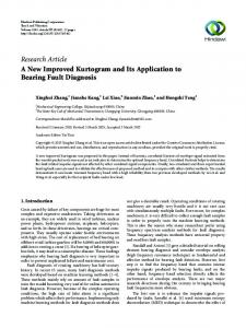 A New Improved Kurtogram and Its Application to Bearing Fault