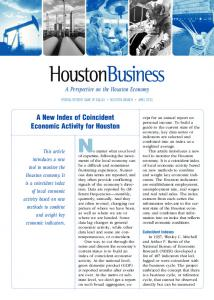 A New Index of Coincident Economic Activity for Houston - Houston ...