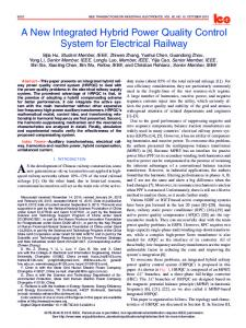 A New Integrated Hybrid Power Quality Control System ... - IEEE Xplore