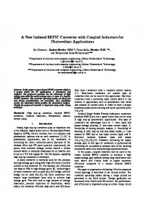 A New Isolated SEPIC Converter with Coupled Inductors for ...