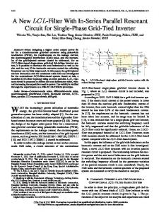 A New LCL-Filter With In-Series Parallel Resonant ... - Semantic Scholar