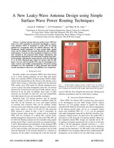 A New Leaky-Wave Antenna Design Using Simple ... - IEEE Xplore