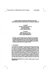 A NEW LINEAR SAMPLING METHOD FOR THE