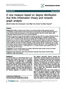 A new measure based on degree distribution that links information ...