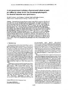 A new measurement technique of peroxyacetyl nitrate