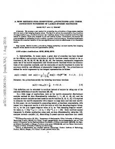 A New Method for Computing $\varphi $-functions and Their Condition ...