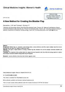A New Method for Creating the Bladder Flap