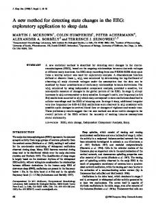A new method for detecting state changes in the ... - Wiley Online Library