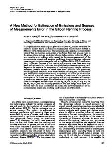 A New Method for Estimation of Emissions and ... - Springer Link