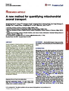 A new method for quantifying mitochondrial axonal transport ...
