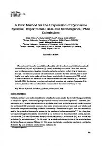 A New Method for the Preparation of Pyridazine Systems - DergiPark